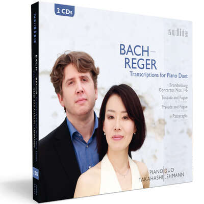 23445 - Bach-Reger Transcriptions for Piano Duet: Brandenburg Concertos Nos. 1-6 & Organ Works