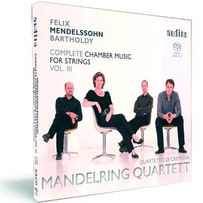 92658 - Felix Mendelssohn Bartholdy: String Quartet in E flat major (Op. 44 No. 3), Four Pieces for String Quartet (Op. 81) & Octet in E flat major (Op. 20)