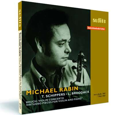 95607 - Michael Rabin plays Bruch's Violin Concerto and Virtuoso Pieces for Violin and Piano