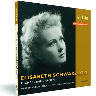 95633 - Elisabeth Schwarzkopf interprets songs by Wolf, Schubert, Strauss, Purcell, Arne & Quilter