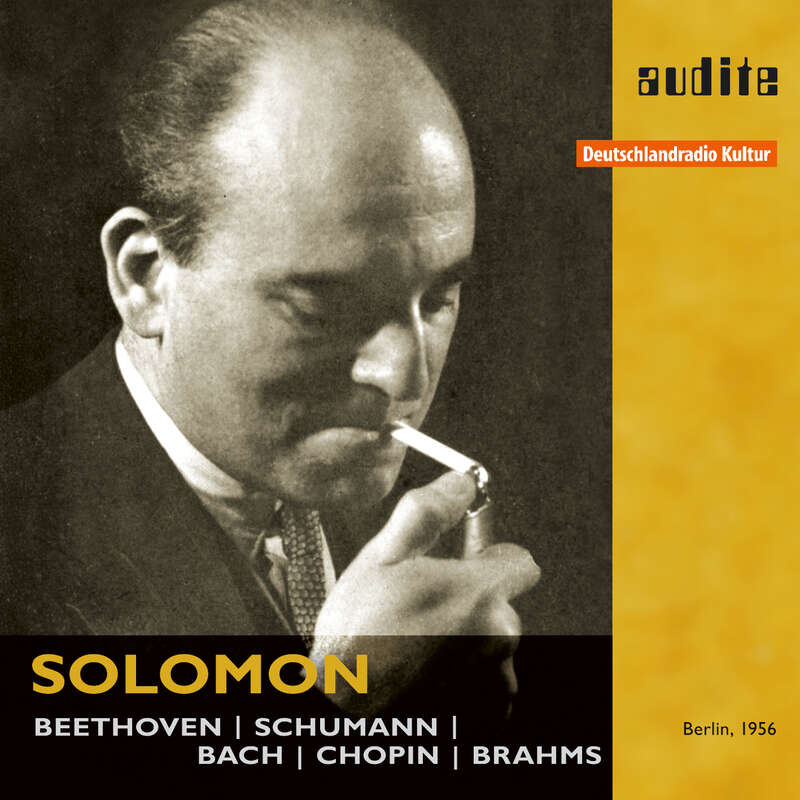 Cover: Solomon plays Beethoven, Schumann, Bach, Chopin & Brahms