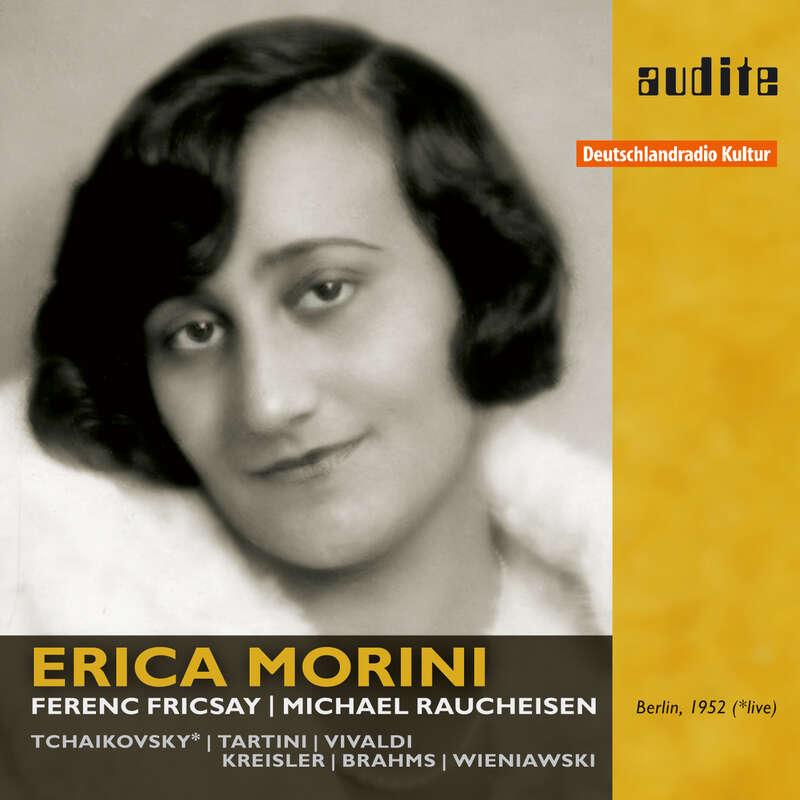 Cover: Erica Morini plays Tchaikovsky, Tartini, Vivaldi, Kreisler, Brahms and Wieniawski