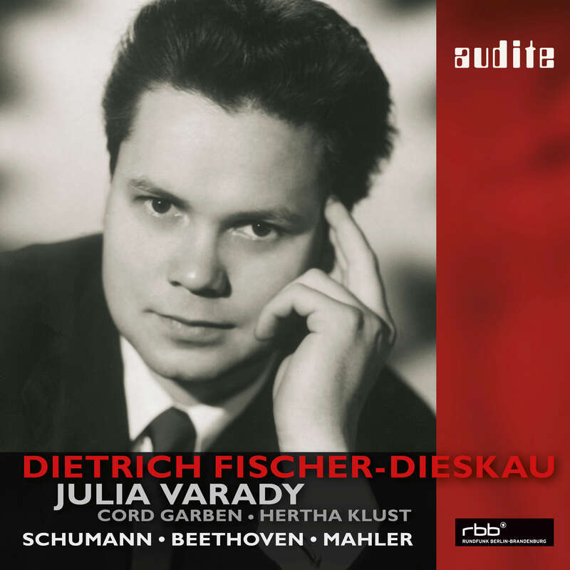 Cover: Dietrich Fischer-Dieskau sings Beethoven and Mahler and Schumann duos with Julia Varady