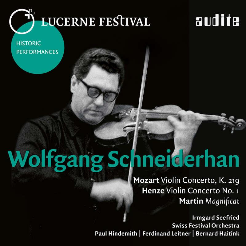 Cover: Wolfgang Schneiderhan plays Mozart, Henze & Martin