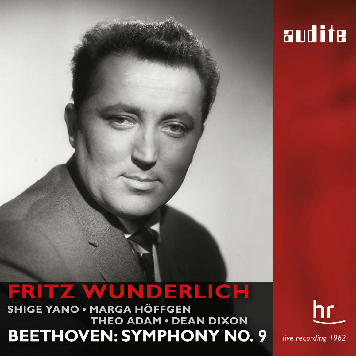 Beethoven: Symphony No  9 (live)_Fritz Wunderlich | Dean    - audite