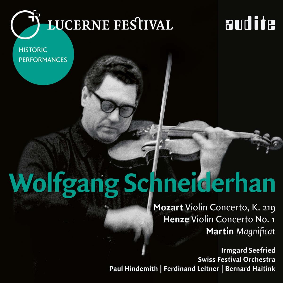 audite! - Wolfgang Schneiderhan plays Mozart, Henze & Martin_LUCERNE ...